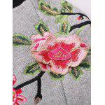 Floral Embroidered Front Zipper Cardigan deal