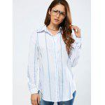 Strip Loose Shirt - WHITE