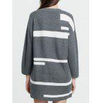 Graphic Long Sweater for sale