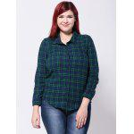 Buy BLUE AND GREEN, Apparel, Women's Clothing, Plus Size, Plus Size Tops for $30.09 in GearBest store