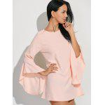 Flare Sleeves Ruffled Blouse - SHALLOW PINK