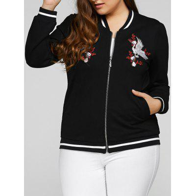 Plus Size Embroidered Embellished Jacket