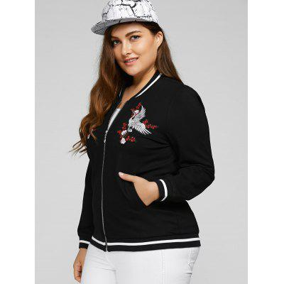 Plus Size Embroidered Embellished JacketPlus Size Outerwear<br>Plus Size Embroidered Embellished Jacket<br><br>Closure Type: Zipper<br>Clothes Type: Jackets<br>Collar: Stand-Up Collar<br>Embellishment: Embroidery<br>Material: Cotton, Spandex<br>Package Contents: 1 x Jacket<br>Pattern Type: Others<br>Season: Fall, Spring<br>Shirt Length: Regular<br>Sleeve Length: Full<br>Style: Casual<br>Type: Slim<br>Weight: 0.650kg<br>With Belt: No