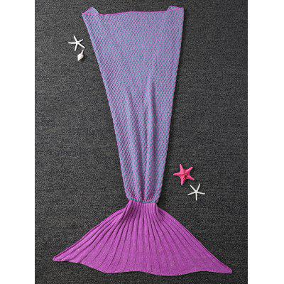 Polka Dot Design Bed Sleeping Bag Knitted Wrap Sofa Mermaid Blanket