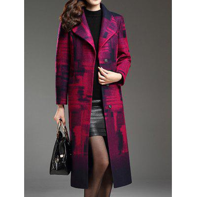Shawl Collar Belted Longline Coat