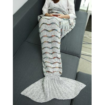 Super Soft Plush Stripe Sleeping Bag Mermaid Blanket