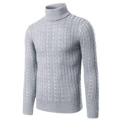 Rib-Hem Turtleneck Twist Striped SweaterMens Sweaters &amp; Cardigans<br>Rib-Hem Turtleneck Twist Striped Sweater<br><br>Collar: Turtleneck<br>Material: Polyester<br>Package Contents: 1 x Sweater<br>Sleeve Length: Full<br>Style: Casual<br>Technics: Computer Knitted<br>Type: Pullovers<br>Weight: 0.450kg