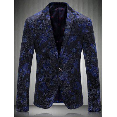 Breast Pocket Notch Lapel Texture One-Button Blazer