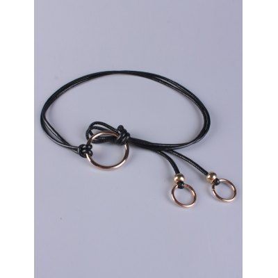 Adjustable PU Leather Metal Ring Belt