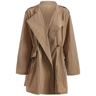 Autunno coulisse in vita Trench