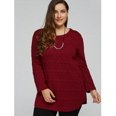 Long Sleeve Plus Size Tunic TopPlus Size Tops<br>Long Sleeve Plus Size Tunic Top<br><br>Collar: Round Neck<br>Material: Cotton<br>Package Contents: 1 x Top<br>Pattern Type: Round<br>Season: Spring, Winter, Fall<br>Shirt Length: Long<br>Sleeve Length: Full<br>Style: Fashion<br>Weight: 0.435kg