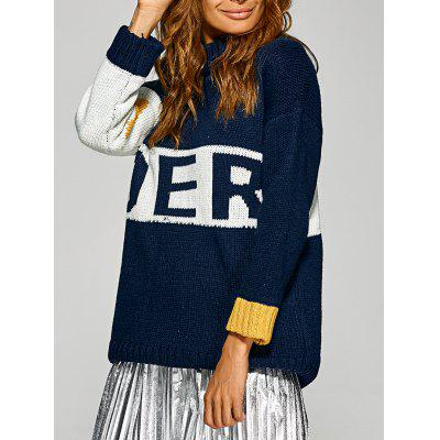 Active Inverse Letter Red Pattern Sweater