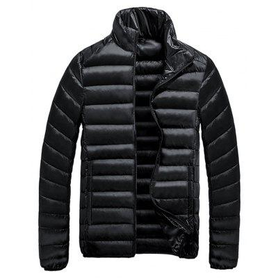 Stand Collar Zip-Up Quilted Jacket