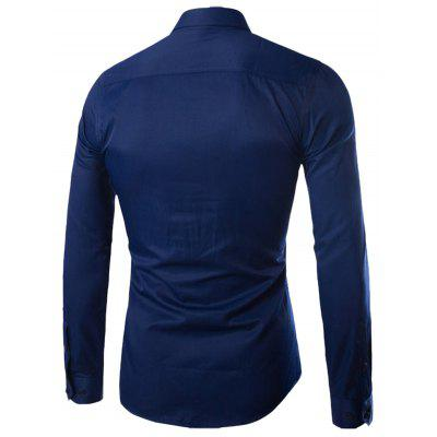 Turn-down Collar Button Up Plain ShirtMens Shirts<br>Turn-down Collar Button Up Plain Shirt<br><br>Collar: Turn-down Collar<br>Material: Cotton Blends<br>Package Contents: 1 x Shirt<br>Shirts Type: Casual Shirts<br>Sleeve Length: Full<br>Weight: 0.2930kg