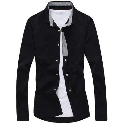 Buy BLACK Striped Lined Snap Button Up Plain Shirt for $20.27 in GearBest store