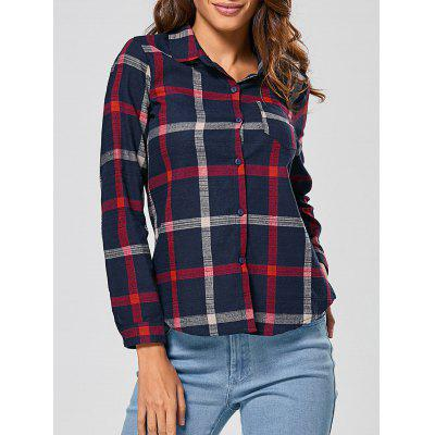 Checked Slimming Shirt