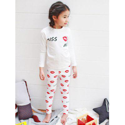 Lip Long Sleeve Pajamas