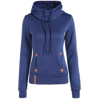 Patched Casual Hoodie