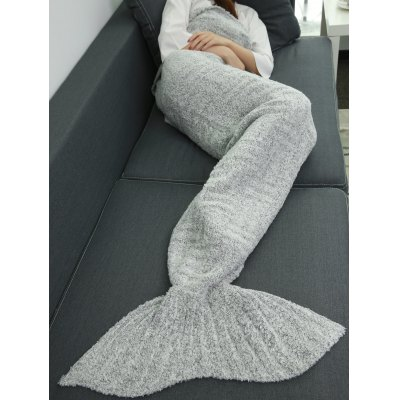 Buy GRAY Super Soft Sleeping Bag Wrap Sofa Mermaid Plush Throw Blanket for $25.69 in GearBest store