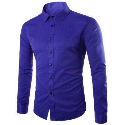 Plus Size Slimming Long Sleeve Shirt