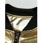 Stand Collar Zippered Metallic Jacket deal