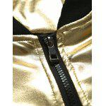 Stand Collar Zippered Metallic Jacket for sale