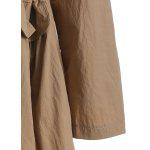 Autunno coulisse in vita Trench - CAMMELLO