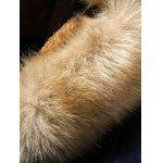 Furry Hood Horn Button Fleece Suede Coat for sale