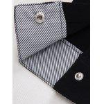 Striped Lined Snap Button Up Plain Shirt - PINK