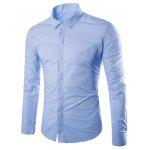 Buy LIGHT BLUE, Apparel, Men's Clothing, Men's Shirts for $21.33 in GearBest store