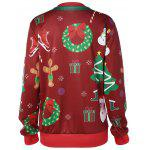 cheap Pullover 3D Christmas Print Sweatshirt