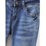 Frayed Bleach Wash Denim Pencil Pants deal