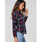 Checked Slimming Shirt - BLUE