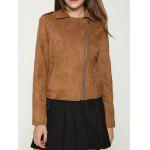 Faux Suede Cropped Biker Jacket deal
