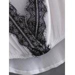 best Chiffon Lace Patchwork Asymmetric Blouse