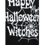 Plus Size Skew Collar Halloween Graphic T-Shirt deal