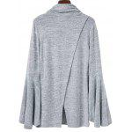 cheap Back Slit Flare Sleeves Knitwear