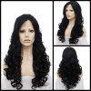 Long Centre Parting Wavy Lace Front Synthetic Wig - JET BLACK