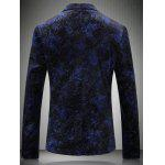 Seno Pocket Notch risvolto Texture One-Button Blazer - BLU