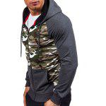 Raglan Sleeve Zip-Up Camouflage Hoodie deal
