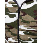 Raglan Sleeve Zip-Up Camouflage Hoodie photo