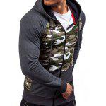 Raglan Sleeve Zip-Up Camouflage Hoodie for sale