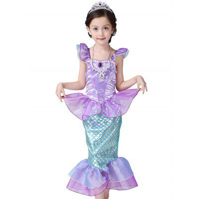 Kids Maxi Halloween Princess Cosplay Mermaid DressGirls Clothing<br>Kids Maxi Halloween Princess Cosplay Mermaid Dress<br><br>Dresses Length: Ankle-Length<br>Material: Polyester<br>Neckline: Scoop Neck<br>Package Contents: 1 x Dress<br>Pattern Type: Patchwork<br>Season: Summer<br>Silhouette: Trumpet/Mermaid<br>Sleeve Length: Sleeveless<br>Style: Novelty<br>Weight: 0.145kg<br>With Belt: No