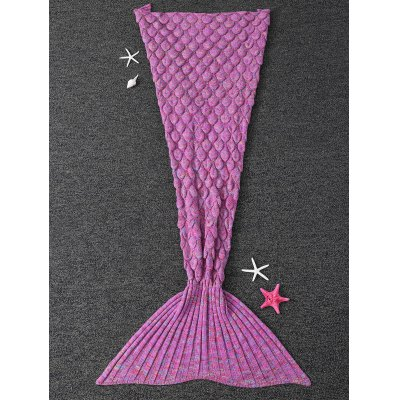 Soft Fish Scale Design Antipilling Sleeping Bag Wrap Mermaid Blanket