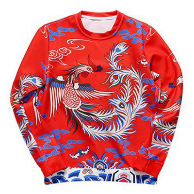Phenix Printed Long Sleeve Crew Neck Sweatshirt