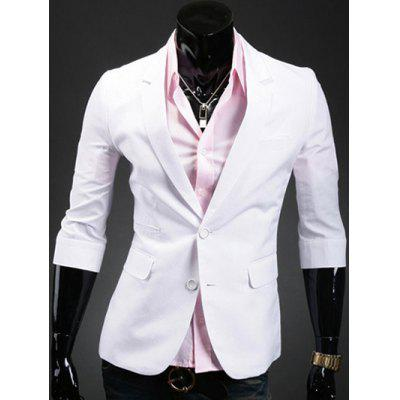 Three Quarter Sleeve Notch Lapel Back Double Vent Blazer