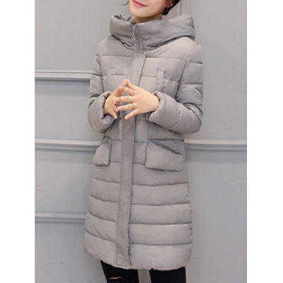 Long Hooded Padded Coat