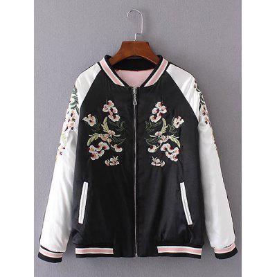Embroidered Insider Wear Padded Baseball Jacket