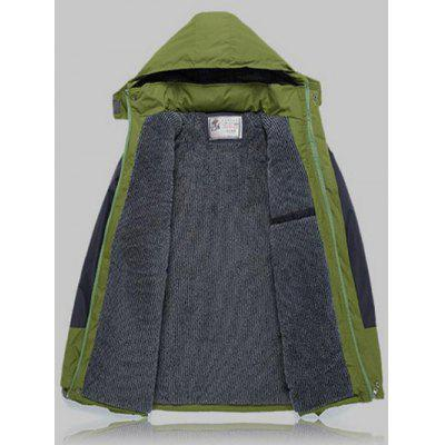 Color Block Detachable Hood Ski JacketMens Jackets &amp; Coats<br>Color Block Detachable Hood Ski Jacket<br><br>Clothes Type: Jackets<br>Collar: Hooded<br>Material: Cotton, Faux Fur, Polyester<br>Package Contents: 1 x Jacket<br>Season: Winter<br>Shirt Length: Regular<br>Sleeve Length: Long Sleeves<br>Style: Active, Casual<br>Weight: 1.122kg