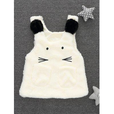 Kids Embroidered Cartoon Cat Waistcoat